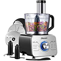 Decen 12-Cup Food Processor & Vegetable Chopper with LED light
