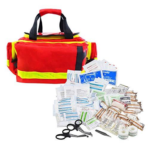 TMS PRO SHOP Erste Hilfe Tasche First Responder PROFI, mit Rettungsdienstfüllung DIN 14142 aus Kunststoff