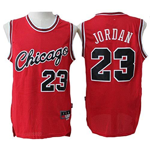 LLZYL Trikots - Chicago Bulls 23# Jordan Herren- Und Damen-Basketballtrikots Retro-Cooles, Atmungsaktives Stoff-Trikot, T-Shirt,M:175cm/65~75kg
