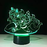 TYWFIOAV Feixia 3D luz 7 Colores luz Nocturna LED táctil Regalo luz Visual luz USB batería