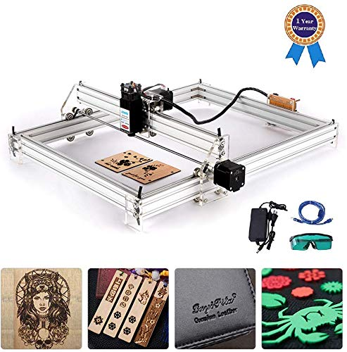 Kacsoo Carving Machine DIY Kit, Desktop 12 V USB lasergraver Carver, instelbare laserprestaties printer carving & snijden met veiligheidsbril 40 * 50 5500