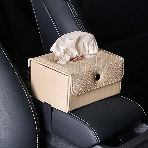 Bolsillo de red para coche El tejido del coche de caja, de múltiples funciones del coche del asiento trasero de suspensión Apoyabrazos caja de la toalla de cuero caja, adecuado for la mayoría Coches