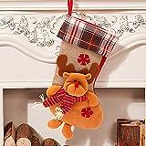 SPECOOL Conjunto de Medias Colgantes de Navidad 17'Calcetines de Navidad Grandes Calcetines de Navidad Elk Calcetines de Regalo Bolsa de Embalaje para Dulces Adornos de Navidad de muñeco