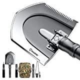 Sharvol Survival Shovel Multitool with Instant Switch Mechanism - Tactical Shovel for Camping, Survival Gear, Prepper Gear,...
