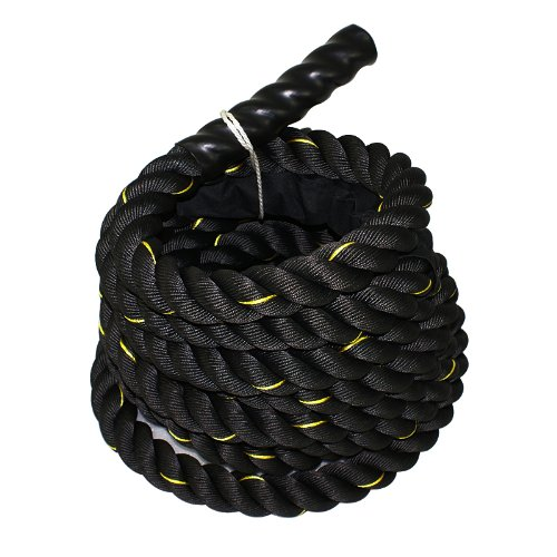 ZENY Heavy Duty Battle Rope 1.5'' Diameter 100% Poly Dacron 40ft Length Exercise Rope Workout Training Undulation Rope Fitness Condition Rope