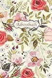 Adressbuch: Kontaktbuch fr alle Adressen, Telefonnnummern, Mailadressen mit Geburtstagskalender | Vintage-Blumen Design