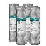 Cartuchos de Filtro de Agua CTO de Bloque de CarbóN de 4 X 10'Para Agua Potable, Sistemas de óSmosis Inversa, Se Adapta A Todas Las Carcasas de Filtro de 10'