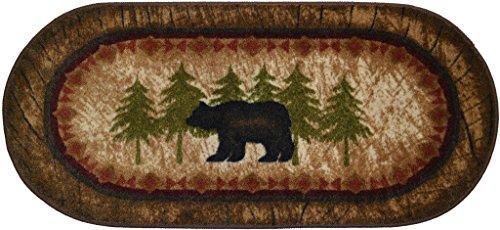 Cozy Cabin CC5276 Birch Bear Non Skid Rug 20'x44' Wedge Brown