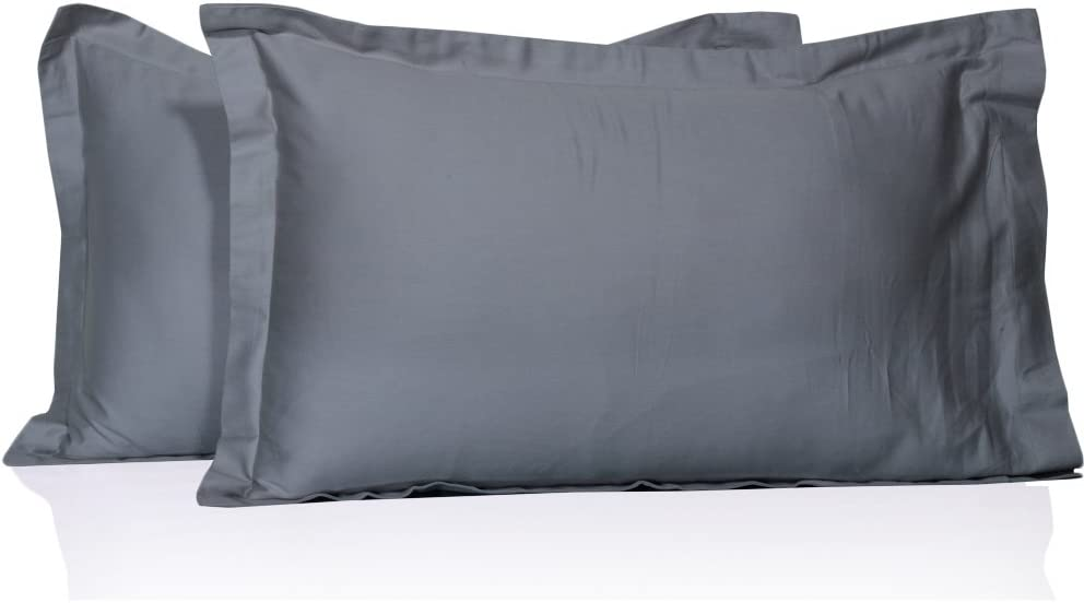 100/% Egyptian cotton Ultra Soft italian finish Pillowcases 400TC Solid By Mansi Bedding King , Chocolate