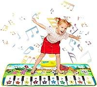 Lolay 音楽マット プレイマット ピアノマット 折り畳み 多機能ベビーマット 安全無毒 滑り止め 100*36cm 知恵玩具 防水 プレイマット クッションマット
