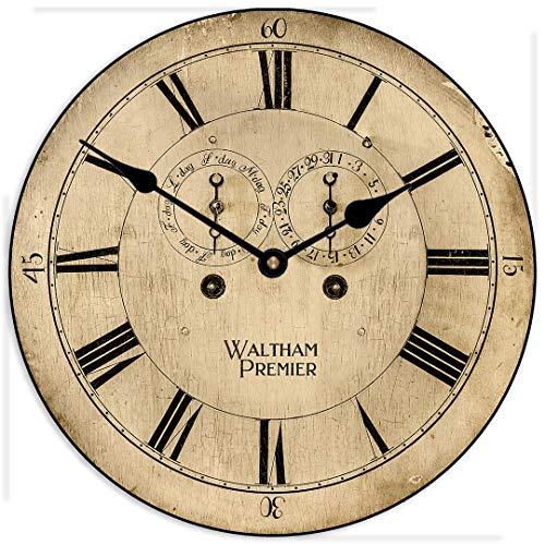 None Brand 1760 Waltham clock reloj de pared grande Reloj redondo