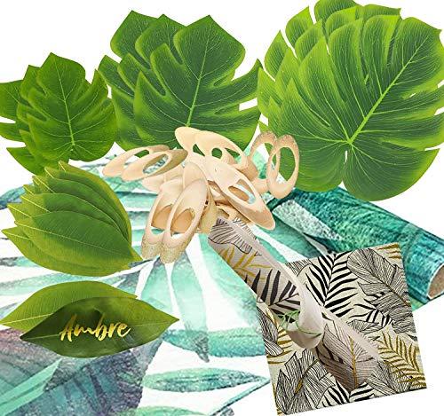 Juego de fiesta vajilla fiesta temática verano año nuevo diferentes temas (verde, tropical)
