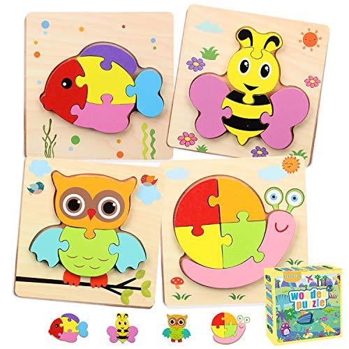 Celawork Holzpuzzle Kinder,3D Steckpuzzle Montessori Lernspielzeug mit...