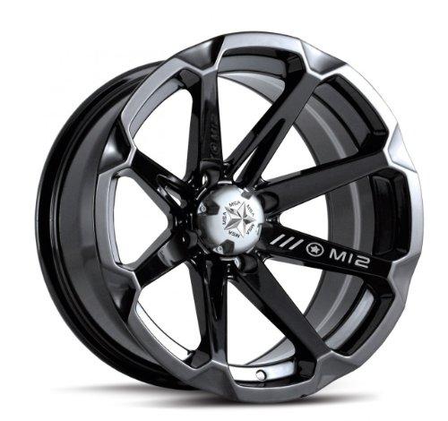 MSA M12-04710 Diesel ATV Gloss Black Wheel 10mm Offset ([14x7] / 4x110)