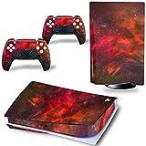 YWZQ para PS5 Game Console Pegatina de Pegatina Pegatina de Pegatina para Playstation 5 Console y 2 Controlers PS5 Digital Edition Película Protectora de la Piel,S