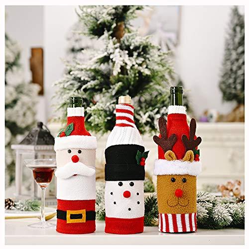 ZMCOV Weinflaschenabdeckung Dekorative, Kunstpelz Manschette Pullover Weinflaschenhalter Beutel Taschen Für Rustikale Hochzeitsessen Party Weihnachtsfeier Ornament