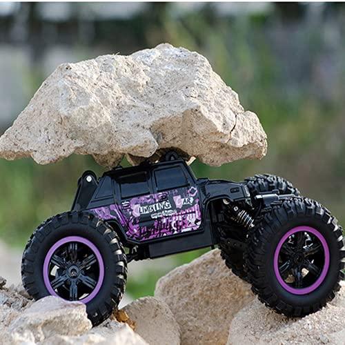 ADSVMEL RC Niños Regalo del día Robusto Todo Terreno Aleación de Aluminio Control Remoto Coche Buggy Toy 4WD Coches RC Coche de Carreras de Alta Velocidad 2.4Ghz Off Road Control eléctrico Hobby