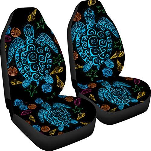 Pizding - Funda para asientos delanteros del coche - Fundas cómodas con estampado original para coc