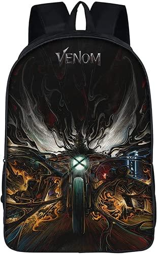 Amacigana Mochila escolar para niños Teen Venom, divertida mochila escolar con estampado de anime, adecuada para dar a tu hijo una sorpresa, Venom 15, large,