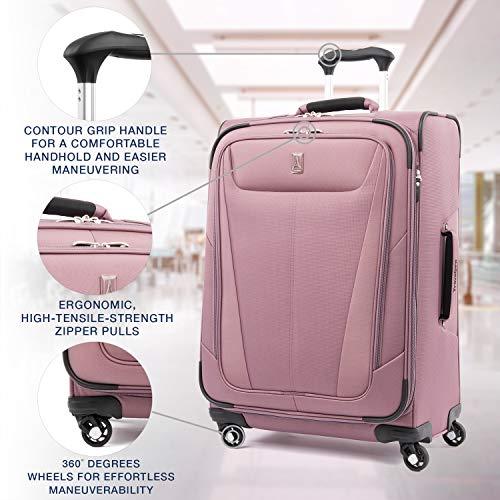 Travelpro Maxlite 5-Softside Expandable Spinner Wheel Luggage, Dusty Rose