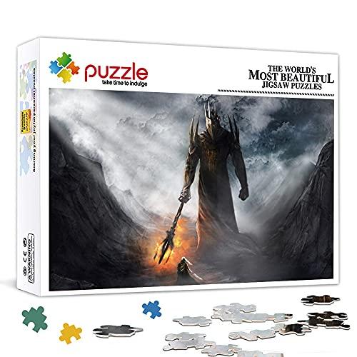 Family Fun Jigsaws Puzzles 1000 Piezas El Señor de los Anillos Morgoth Puzzle para Niños Niños Adultos Puzzle Juegos Educativos Decoración del Hogar Puzzle 75x50cm