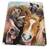 馬の自己中心マウスパッド、滑り止めラバーソール付きマウスパッド、厚みのあるデザイン ブラック-10x12in