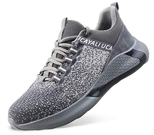 Ucayali Zapatillas de Seguridad Hombre Zapatos de Trabajo con Punta de Acero Calzado...