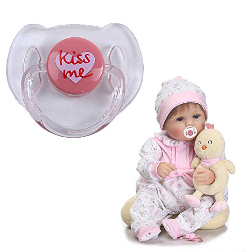 Enjoyyouselves Chupete de muñeca, Chupete simulado de Dibujos Animados, Chupete, Suministros de muñeca para bebé recién Nacido muñeca renacida