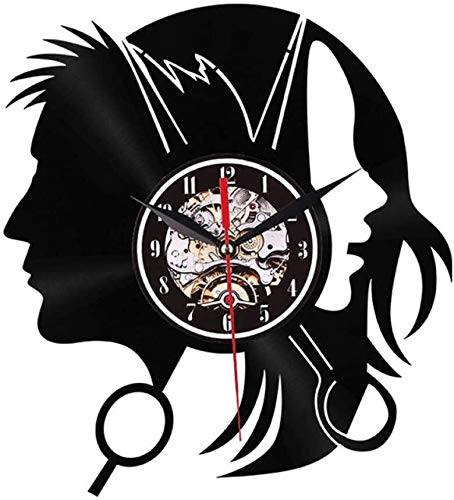 Vinyl Music Record Wall Clock Wall clock Silent Large Wall Clock Rubber Twosided Girls Clocks For Home Living Room Office Wall Decorative Watch 9M26