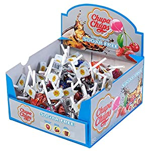 chupa chups sugar free display box - 50 lollipops Chupa Chups Sugar Free Sweets Multipack of 50 Lollipops 51tZVhH8JXL
