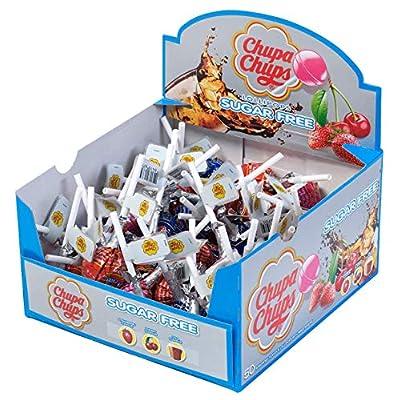 chupa chups sugar free display box - 50 lollipops Chupa Chups Sugar Free Sweets Multipack of 50 Lollipops 51tZVhH8JXL