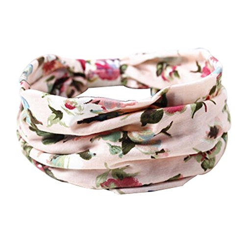 2 PCS Belle fleur rose Bands Motif de cheveux Head Western Style Tissu