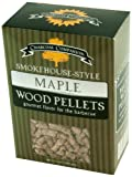 Charcoal Companion Smokehouse-Style Wood pellets Ahorn, Natural, 10x6x15 cm