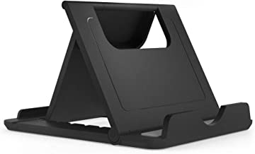 DFV mobile - Holder Desk Universal Adjustable Multi-Angle Folding Desktop Stand for Smartphone and Tablet for Huawei Honor 8A Pro (2019) - Black