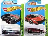 Hot Wheels 2015 Ferrari 599XX & Red Lamborghini Veneno 2-Car Set by