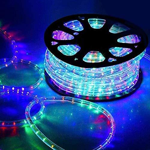 LGVSHOPPING Tubo Luminoso A Led 50 Metri Interno Ed Esterno Con 8 Giochi Di Luce Tubo Natalizio (Multicolore RGB)