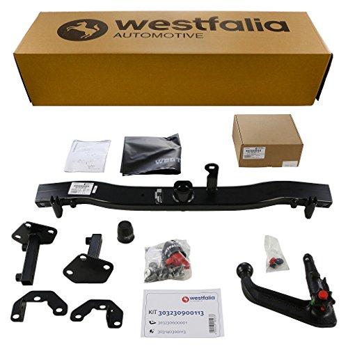 Westfalia abnehmbare Anhängerkupplung für BMW 3er Coupe (BJ 04/1999-08/2006), 3er Cabrio (BJ 01/1999-02/2006), 3er Limousine (BJ 04/1998-03/2005) im Set mit 13-pol. fzg.-spez. Westfalia E-Satz