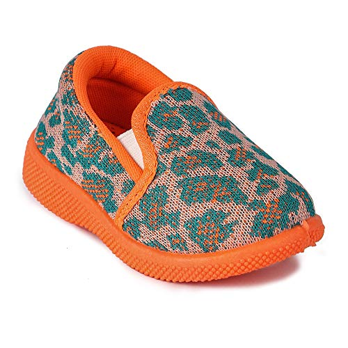 Girls Clubs Kids Musical Shoes for Age Group 3 Months to 24 Months for Baby Boys & Girls Orange