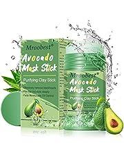 Avocado Mask Stick, Purifying Clay Stick Mask, Deep Cleansing Mask, reinigingsmasker, gezicht, oliecontrole, anti-acne-masker, fijn solide masker, stick, mee-eterverwijderaar, krimpt poriën en fleuren