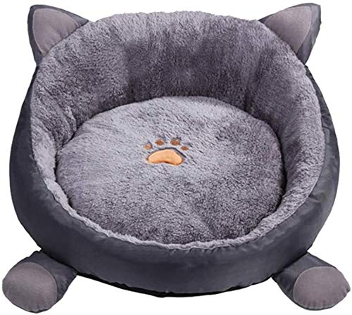 JUIO Pet bed, Cats Kennel Bed, Winter Pet Dogs Round Cushion Mad Pad Bed House Soft Warm Nests, Pet Cushion Mat For Rabbit Hamster Guinea Pigs,Gray, Pink,38CM, 48CM (Color : Gray, Size : 38CM)