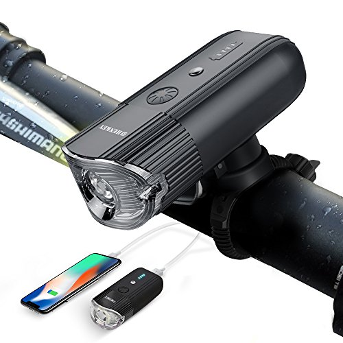 shenkey Luces Delanteras de la Bici Linterna Recargable del Ciclo del USB IP65 Linterna estupenda Impermeable de la Bicicleta 10W Led Luces de la Bicicleta para completar un Ciclo