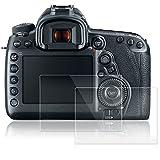 AFUNTA Protectores de Pantalla para Canon EOS 5D MK IV Mark 4, 2 Paquetes Películas de Protección de Vidrio Temperado Antirayas para Cámaras Digitales DSLR