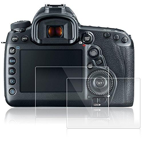 AFUNTA Protezioni dello Schermo per Canon EOS 5D MK IV Mark 4, 2 Packs Anti-graffio pellicole protettive in Vetro temperato per Fotocamera Digitale DSLR