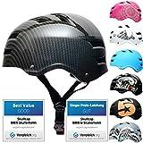 SkullCap® Skateboard & BMX Casque De Vélo pour Adultes - 20 Design, Conception: Carbon, Taille: 55-58 cm