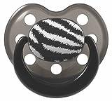 chupetes 'Rock Star Baby' Diseño Zebra, tamaño 2, con anillo (1pieza)