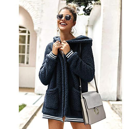 Strickjacke Damen Cardigan Frauen Baumwolle Fluffy Langarm Jacke Damen Warme Oberbekleidung Cardigan Coat M Royalblue