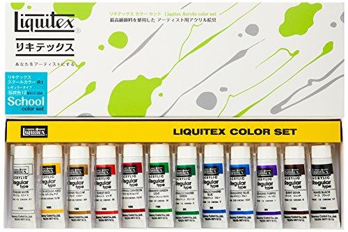 Liquitex 10ML Dentoushoku 12C set R1 (japan import)