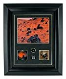 CENTURY CONCEPT Mar's Surface Historic Framed Print and Relic Wall Decor for Collectors | Includes Rock from Mar's Surface and Certificate of Authenticity