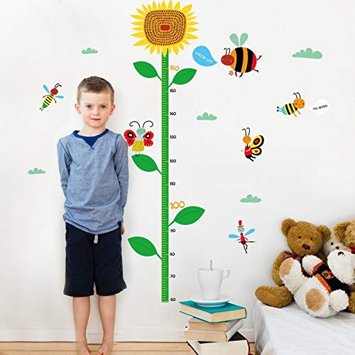 yaofale Bee child height DIY vinyl wall stickers for kids room home decoration art decals 3D poster wallpaper decoration