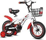 Xiaoyue Fahrräder Heimtrainer for Kinder Rennrad for Kinder Übungs-Fahrrad im Freien Mountainbike Dreirad for Kinder sehr cool Bike (Farbe: Gelb, Größe: 14inches) lalay (Color : Wei, Size : 12inches)